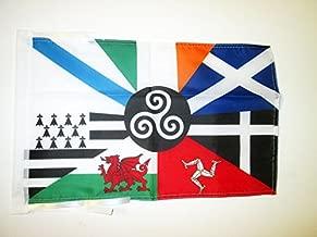 AZ FLAG Bandera Seis Naciones CELTAS 45x30cm - BANDERINA Celta - Paises CELTAS 30 x 45 cm cordeles