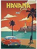 AS65ST12 Cartel del viaje Pop Art, Ciudad de La Habana Cuba lienzo retro pintura de DIY Papel pintado impresiones del cartel, for la decoración del hogar del regalo 50x70cm sin el capítulo Posters Pri
