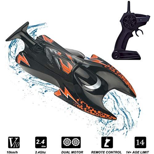 Fangteke Hummer Ferngesteuertes Boot Wasser-Wasserfahrzeug-Modell Elektrisches Hochgeschwindigkeits-RC-Ruder-Hobby-Rennschiff-Spielzeug für Außenpools Seen