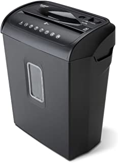 Aurora AU608MB High-Security 6-Sheet Micro-Cut Paper Credit Card Shredder with 3.5-Gallon Wastebasket, 4-Minute Continuous...