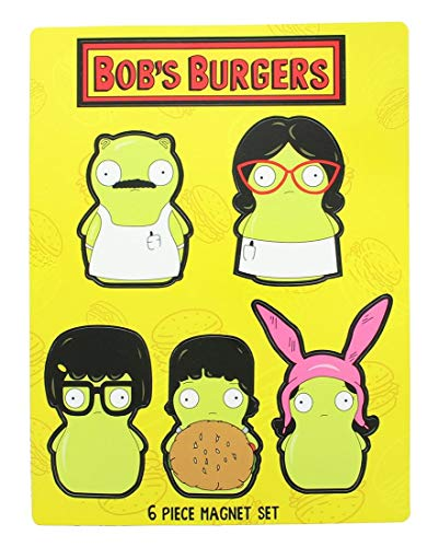 Bob's Burgers Kuchi Kopi Family 6Pcs Magnet Set Collectible Toys
