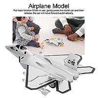 飛行機モデル、飛行機モデルGit、装飾用音響効果耐久性合金3歳のコレクション再生((F-22 Raptor: Silver))