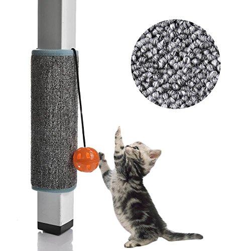 Welltobuy Cat scratch Mat con la campana per giocattoli gatto che graffia Borad protezione Play Pet Pad Mat 31.5x 24.5cm