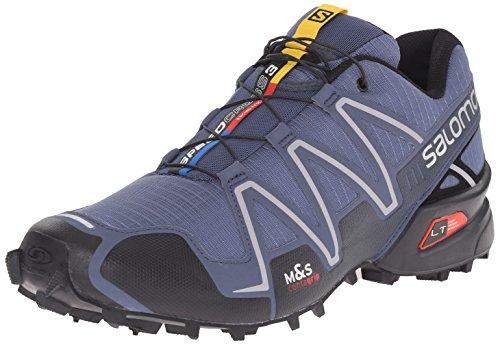 Salomon Men's Speedcross 3-M, Slate Black/Deep Blue, 10.5 D US