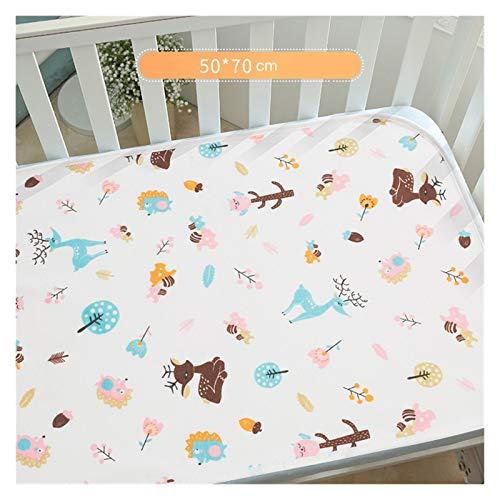 DYKJK Portatile Cartone Animato Orso Baby Pannolino Cambio Pad Cotone Grande Pannolino Che Cambia Neonato Cambio Impermeabile Materasso Pad Materasso materassino per casa e Viaggi