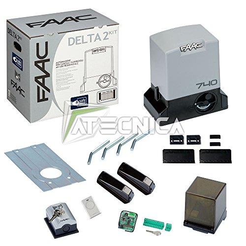 FAAC Kit cancello scorrevole DELTA 2 KIT SAFE 1056303445 automazione 500kg 230V