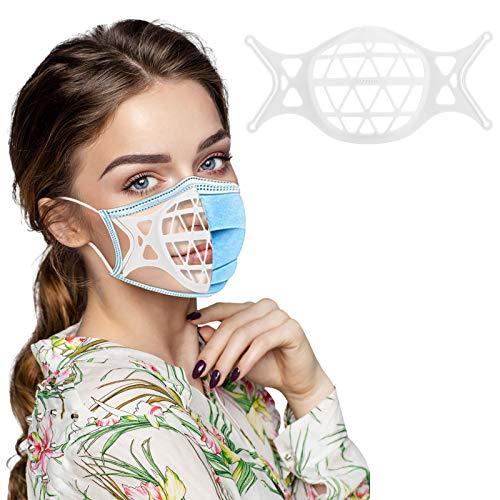 Unisexo Adultos Facial Reutilizables Soporte de 𝐌𝐚𝐬𝐜𝐚𝐫𝐢𝐥𝐥𝐚𝐬,Rosa Azul Negro Blanco Universal cómodo Soporte de Bufanda Diario Surtidos Protector,1/2/4/6 Unidade