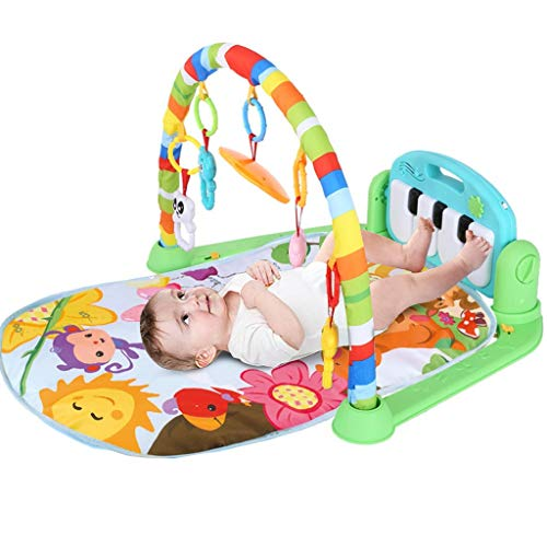 Baby Play Mat,Baby Game Blanket Music Pedal Piano Music Fitness Rack Crawling Mat with Hanging Toys,Funny Baby Fitness Mat Play Mat Activity Gym for Girl and Boy