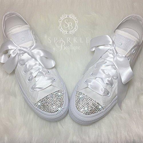 glitter wedding tennis shoes