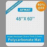 Heavy Duty Office Chair Mat, Polycarbonate Office Floor Mats, Uncrackable Office Chair Mat for Carpet, 48' x 60', Office Carpet Protector Mat, Carpet Chair Floor Mat, Rectangular, Clear