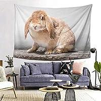 ウサギ タペストリー インテリア 壁掛け 布ポスター おしゃれ 部屋飾り 寝室の装飾 多機能 (203cm×152cm)