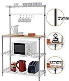 Finnhomy 14x36x61 4-Tiers Adjustable Kitchen Bakers Rack Kitchen Cart...