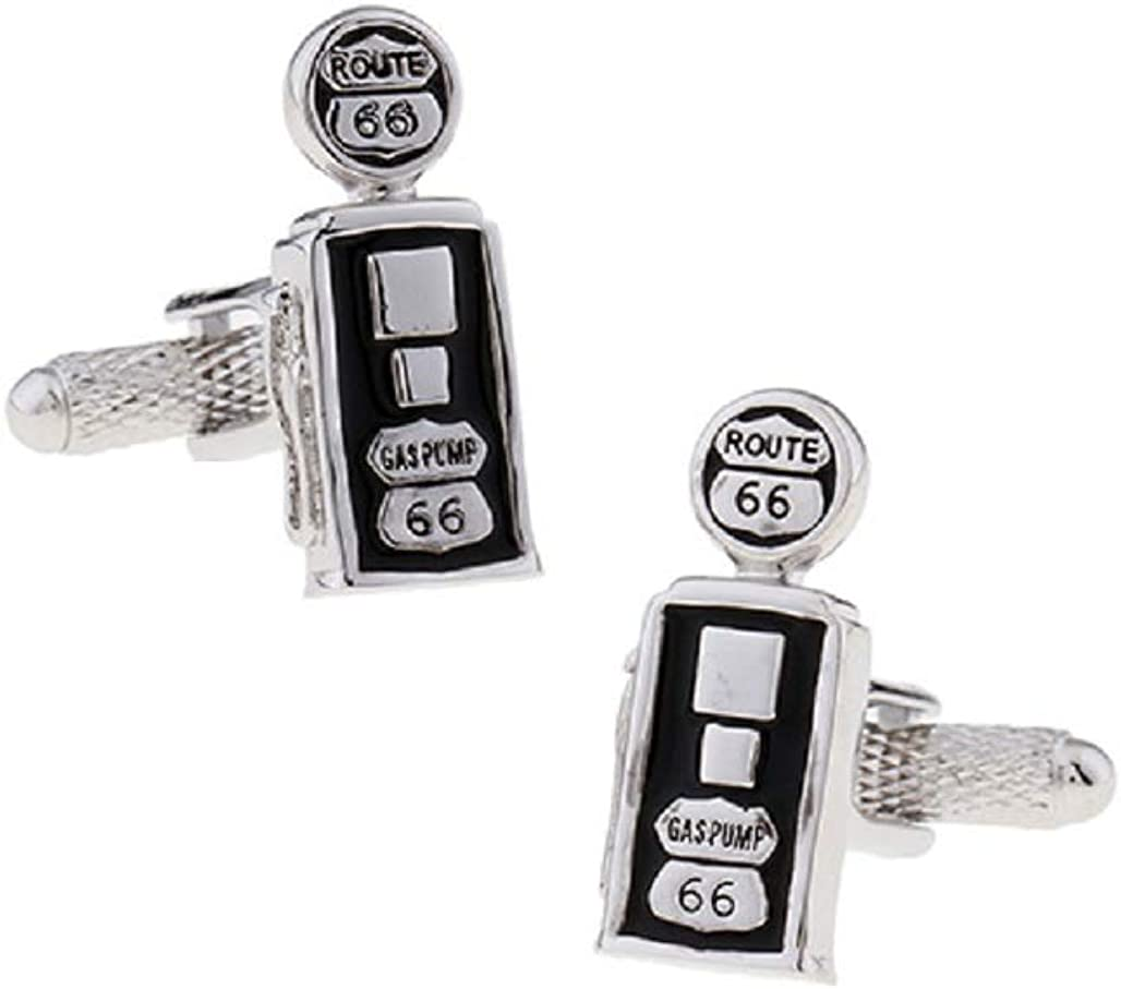 MRCUFF Gas Pump Topics on TV Station Washington Mall Vintage Route Cufflinks a 66 Pair in