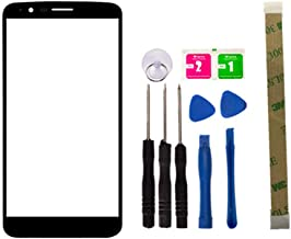 Replacement Repair Front Top Glass Lens Cover Screen for LG Stylus 3 LS777 M400DK L83BL L84VL M430 Mobile Phone Parts and Adhesive Tool (No LCD Touch Digitizer)