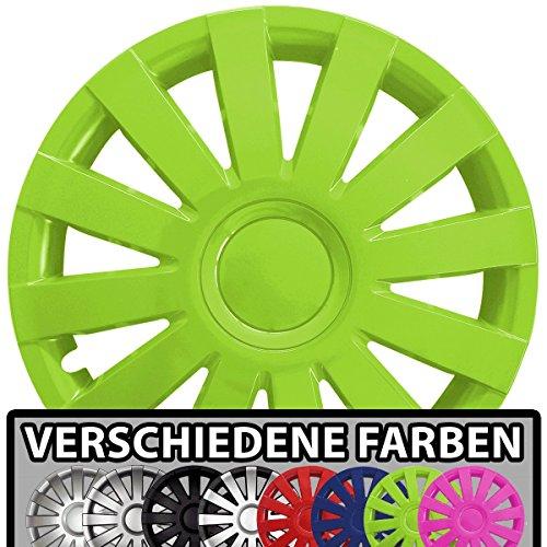 Eight Tec Handelsagentur (Farbe & Größe wählbar!) 15 Zoll Radkappen AGAT (Grün) passend für Fast alle Fahrzeugtypen (universal)