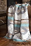 Carstens, Inc JB6807 Lined Throw Collection Chenille Blanket w/Faux Shearling Back, Badlands