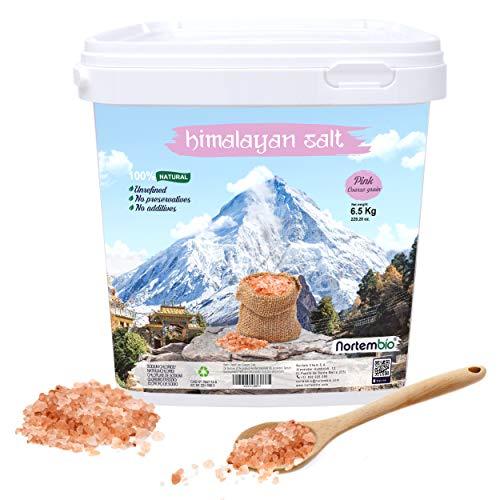 Nortembio Rosa Himalaya-Salz 6,5 Kg. Grob (2-5 mm). 100% Natürlich. Unraffiniert. Ohne Konservierungsstoffe. Von Hand extrahiert. Aus Punjab Pakistan. Premium-Qualität.