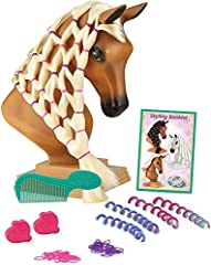 Breyer Mane Beauty introduces a whole new way to play with a Breyer horse | Two things girls love - horses and hair play! IT'S All ABOUT THE HAIR: SUNSET is a Palomino with an extra-long, thick, silky, no-tangle blonde mane for endless braiding and s...