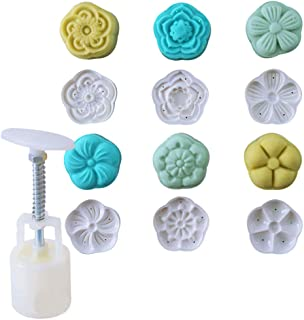Cookie Press Cake Stamp Bath Bombs Mold Cake Mold with 6 Stamps -Cake DIY Decoration (Style Two)