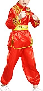 zhbotaolang Kung Fu Stage Performance Boys Girls Embroidery Tai Chi Outfits