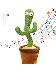Luminous Cactus Plush Toy, Dancing and Singing Cactus, Included 120 Music, Recording and Follow You Speak, Glow, USB Charge, Early Childhood Education Toys, Best Gift for Your Baby