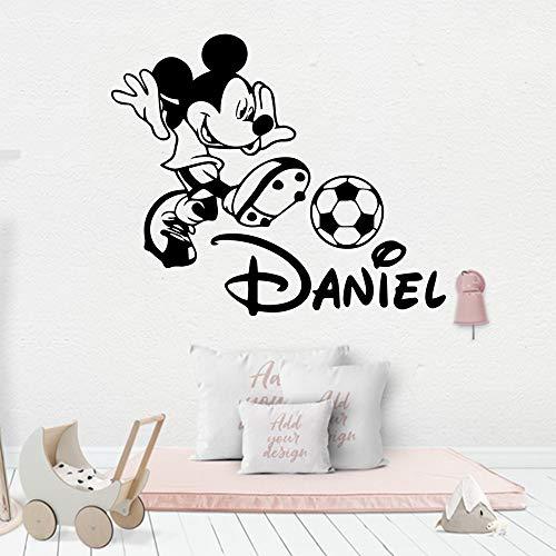yaonuli Aangepaste naam muis vinyl muur sticker slaapkamer kinderen kamer decoratie muur sticker muur decoratie