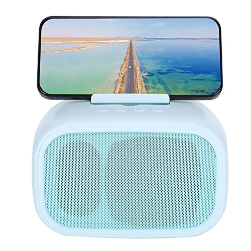 Goshyda Wireless Speaker, Portable Bluetooth5.0 Bass Speaker Phone Stand with TWS Dual Loudspeaker and AUX Line for Smartphone Tablet Laptop PC Desktop Computer(blue)