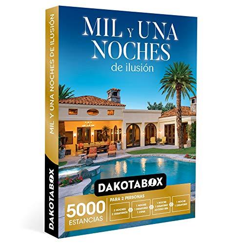DAKOTABOX - Caja Regalo hombre mujer pareja idea de regalo - Mil y una noches de ilusión - 5000 estancias en hoteles rurales de hasta 4*, palacetes, haciendas y mucho más
