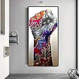 zhuziji Carteles de Arte Arte Abstracto del Brazo de la Mano del Doodle Pared Imprime Regalo Mural Art Life Modern Home Decoración Moderna 50x100cm(Sin Marco)