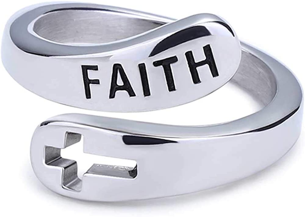 Jude Jewelers Stainless Steel Christian Faith Cross Wedding Engagement Promise Statement Thumb Ring
