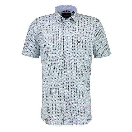 LERROS - Herren Kurzarm Hemd, Regular FIT (2132437), Größe:M, Farbe:Mint Blue (442)