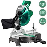 Metabo HPT Compound Miter Saw, 10-Inch, Single Bevel, 15-Amp Motor, 0-52° Miter Angle Range, 0-45° Bevel...