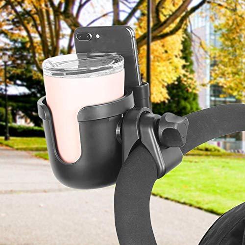 Kinderwagen-Getränkehalter Für Babyflasche/Wasserbecher/Kaffee- Handy-Regalbecher Zwei-in-Eins-Universal-Getränkehalter Walker-Rollstuhl Kinderwagen Trolleys Bike Für Buggy-Kinderwagen-Rollstuhl