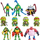 10 pcs Ninja Turtles Toys - Teenage Mutant Action Figure, TMNT Action Figures 2.6 - 4,5 inch-Tall, Carry Bag