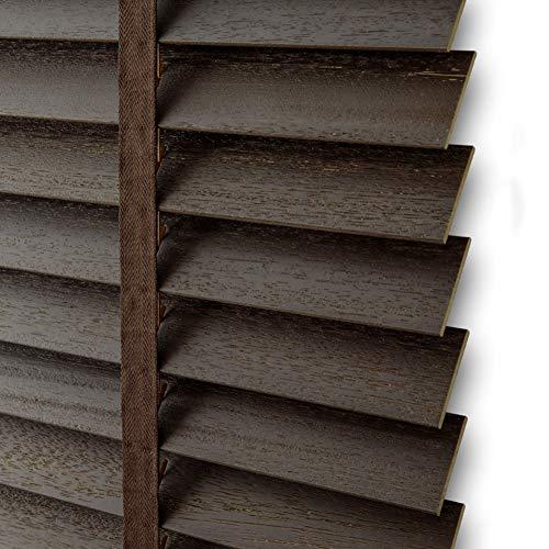 TINGTING Fensterläden, Antikes Gebürstetes Festes Holz Justierbarer Fensterladen Lifting Shading Studie Schlafzimmer Bürogebrauch (Farbe : Dunkelbraun, größe : 1 * 1M)