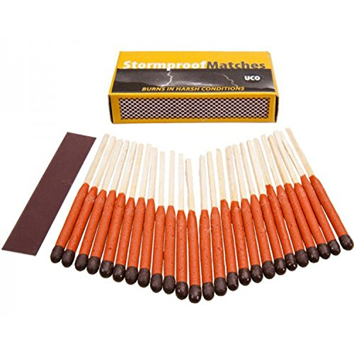 UCO Stormproof Matches, Waterproof and Windproof with 15 Second Burn Time - 25 Matches 2 PACK