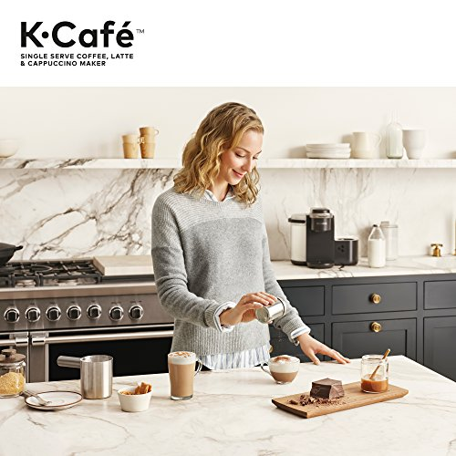 Keurig K-Cafe Coffee Maker, Single Serve K-Cup Pod Coffee, Latte And Cappuccino Maker, Comes With Dishwasher Safe Milk Frother, Coffee Shot Capability, Compatible With All K-Cup Pods, Dark Charcoal