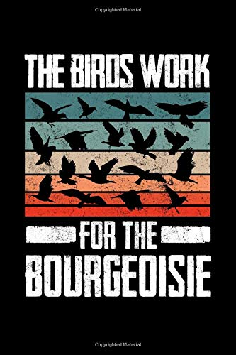 The Birds Work For The Bourgeoisie Birds Aren't Real Notebook: Lined Journal, 120 Pages, 6 x 9 Travel Size, Affordable Gift Journal, Matte Finish