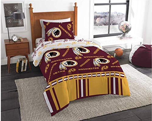 Washington Redskins Twin Comforter & Sheets, 4 Piece NFL Bedding, New! + Homemade Wax Melts