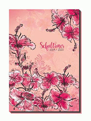 Trötsch Verlag  201915 - Schülerkalender 2019/2020, Flexi Flowers, ca. 14 x 21 cm, 128 Seiten