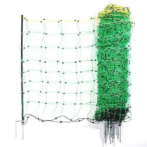 Electric Fence Net/Double Pointed Sheep Netting Fence with 3' Height x 164' Length