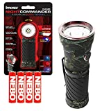 iProtec Night Commander Blood Tracker Flashlight 4 Color LED Light - Camo Bundle with 4 Extra AAA Batteries
