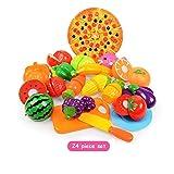 Letaowl Juguete de Cocina 6/10/13 / 18pcs / Set Verduras Corte Toys Development and Education Juguetes para el Color Baby Color Random Surwish Fruit Fruit Fruit Lings Juguetes (Color : 24PCS)