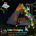 Dekopia Solar Wind Chimes 8 Hummingbird Outdoor Decor Color Changing Light Sensor Solar Power eco Friendly Easy to use… 5