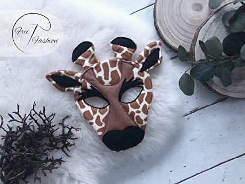 Karnevalset Giraffe, Kinder Poncho, Kinder Karnevalmaske, Frei Fashion