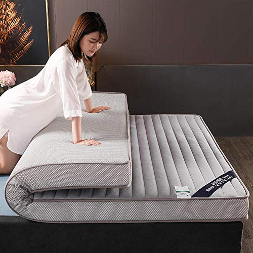zyl Memory Foam Sleeping Mattress Medium Firm Breathable Hybrid Mattress Durable Folding Tatami Mattress for Single Double Bed (Color: A Size: King-180x200cm (71x79in))