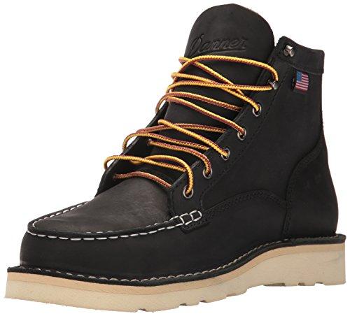 Danner Men's 15569 Bull Run Moc Toe 6' ST Work Boot, Black - 10 D