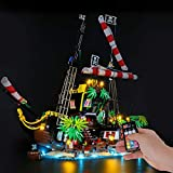 BRIKSMAX Led Lighting Kit for Pirates of Barracuda Bay - Compatible with Lego 21322 Building Blocks Model- Not Include The Lego Set