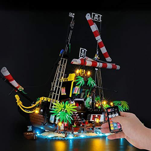BRIKSMAX Led Beleuchtungsset für Lego Ideas Piraten der Barracuda-Bucht,Kompatibel Mit Lego 21322 Bausteinen Modell - Ohne Lego Set