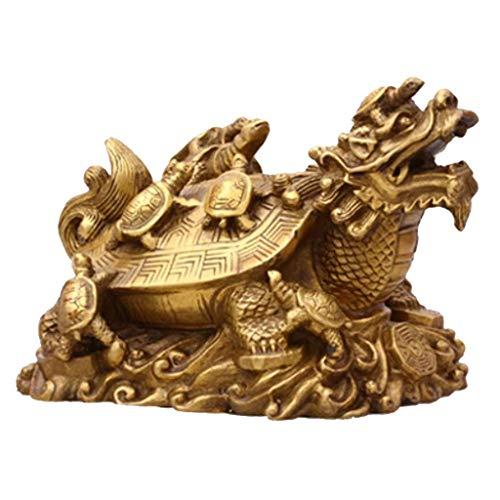 Homyl Statue Dragons Tortue De Mascotte De Feng Shui Chinois